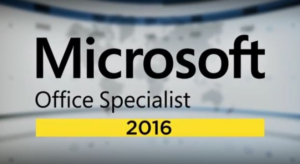 MOS 2016 Microsoft Office Specialist training and certification