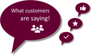 Testimonials - what customers are saying